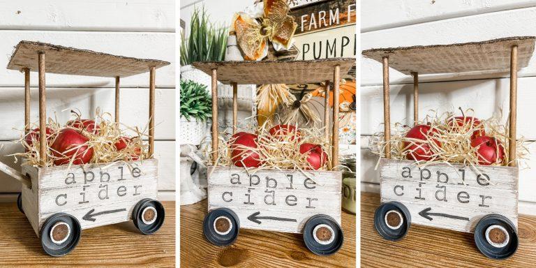 DIY Decorative Apple Cider Cart