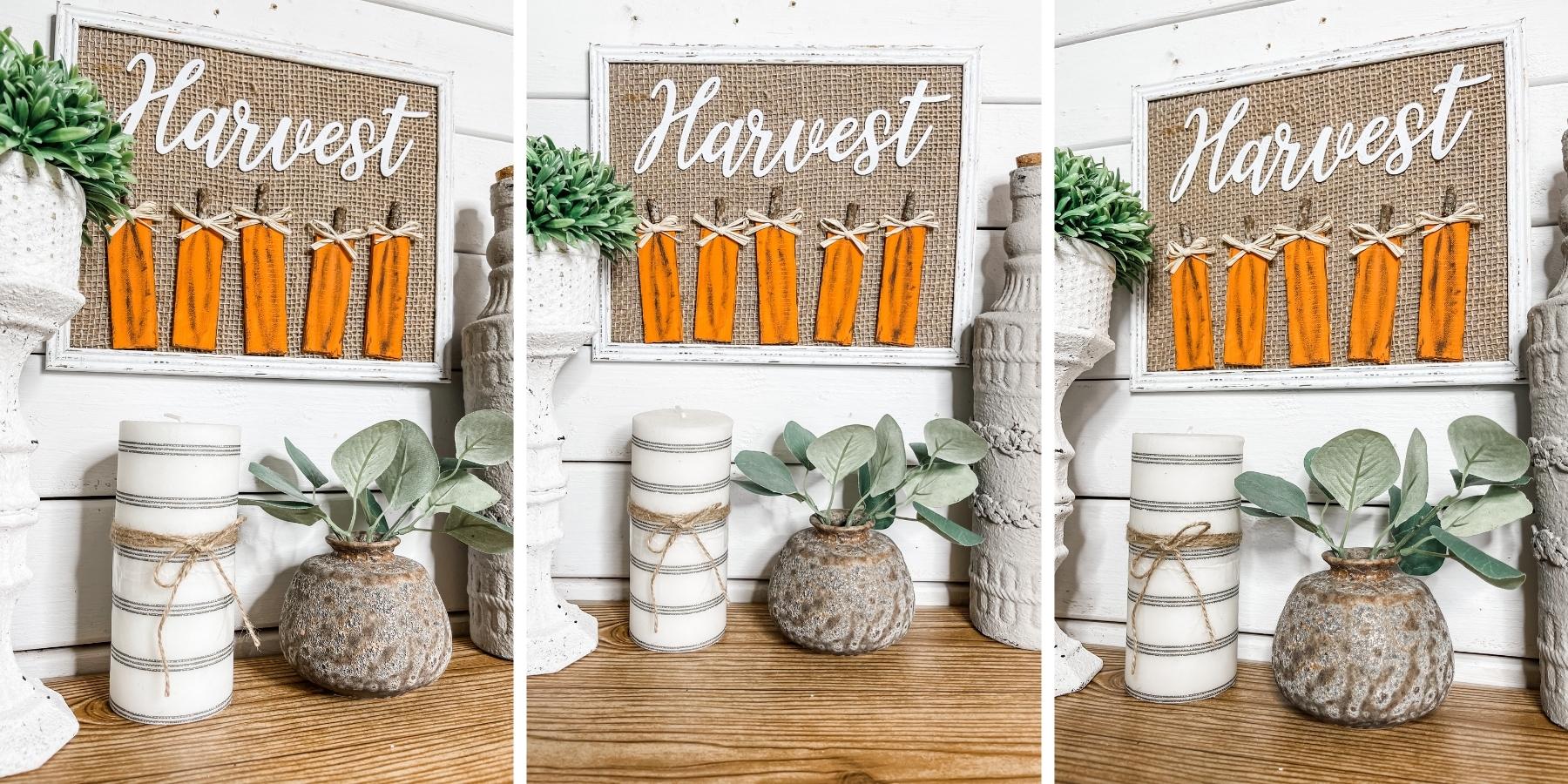 DIY Fall Harvest Pumpkin Sign