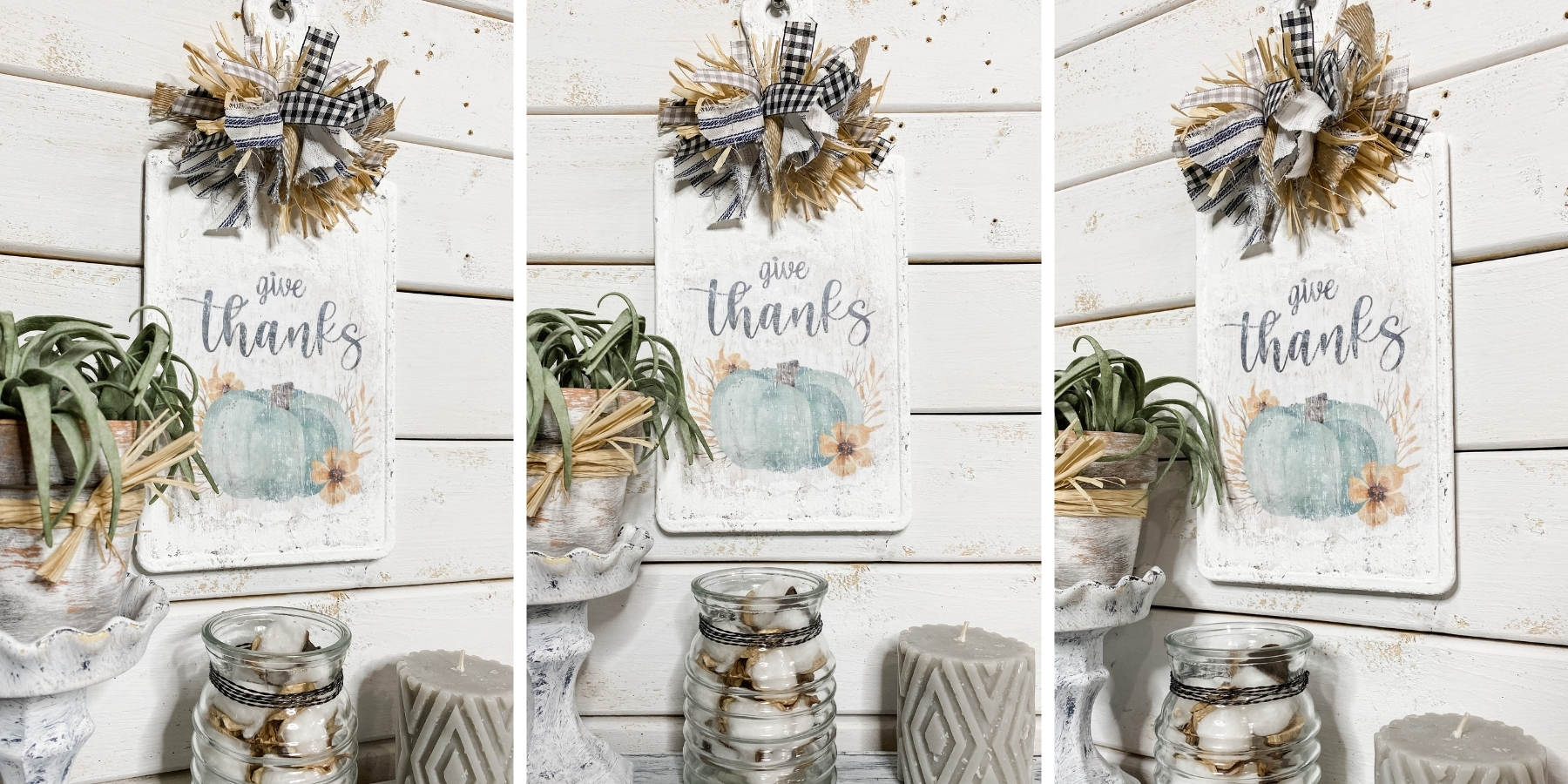 DIY Give Thanks Sign with a Dollar Tree Cutting Board