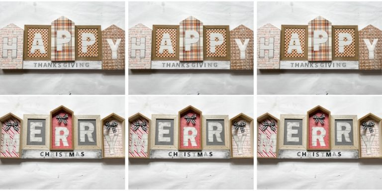 Reversible Christmas and Thanksgiving Decor