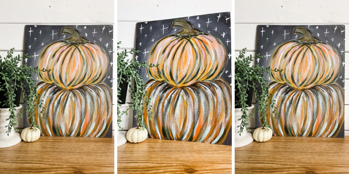 Easy Pumpkin Painting using acrylic paint