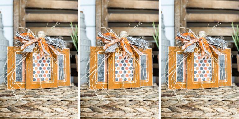 Picture Frame Pumpkin DIY Fall Decor